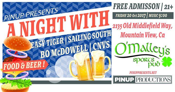 Easy Tiger/Sailing South/Bo McDowell/CNVS at OMalleys