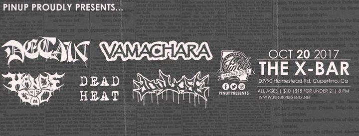 Detain/Vamachara/Hands of God/Dead Heat/You Lose at Xbar