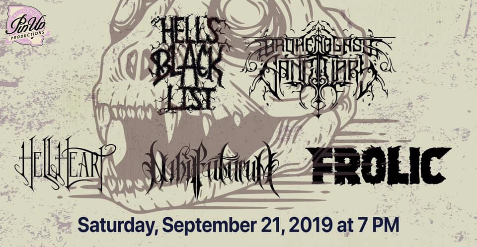 Hell's Black List and more at the Xbar - PinUp Presents